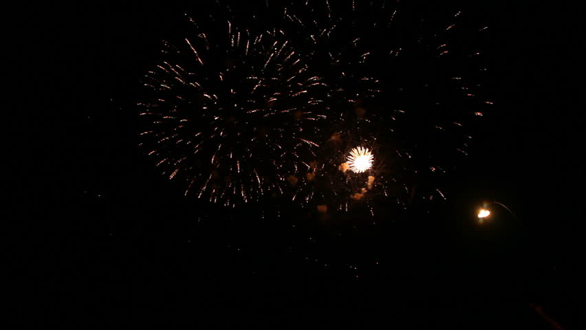 Spectacular fireworks igniting the sky.