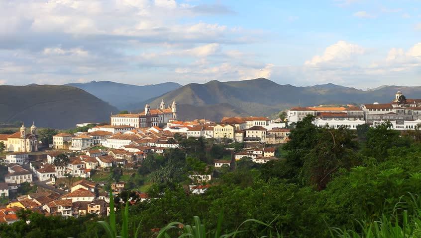 Ouro Preto in Minas Gerais, Brazil - HD stock footage clip