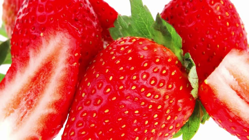 ripe raw strawberry
