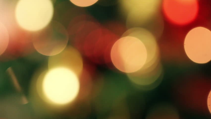 De focused Christmas light Background