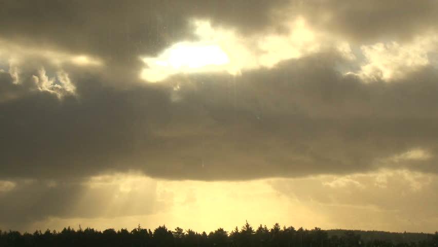 Single rain cloud