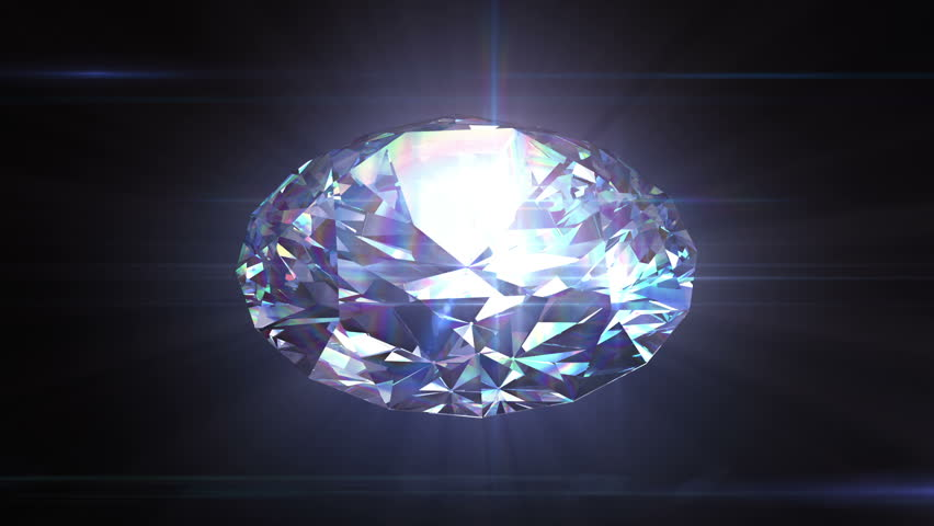 A Bunch Of Shiny Diamonds On A Mirror Under A Blue Light