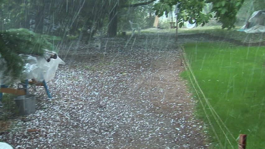 Catastrophic hail storm - HD stock footage clip