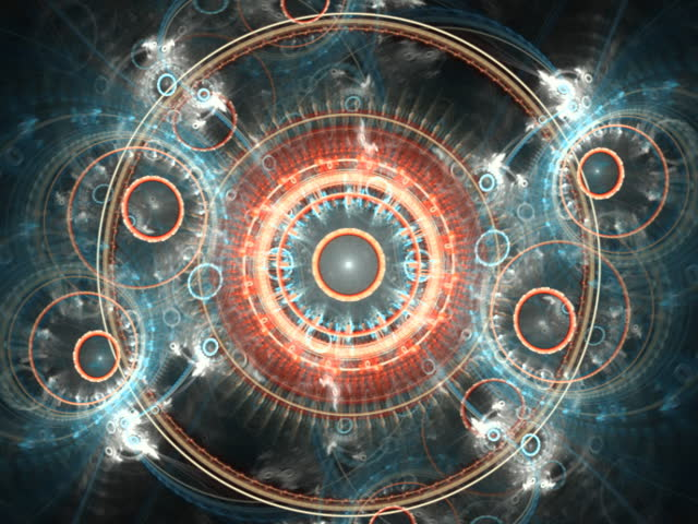 Spheres and pattern multicolored kaleidoscope mandala seamless loop fractal (PAL format) - SD stock video clip