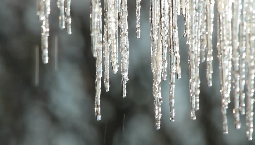 Melting Icicles - HD stock video clip