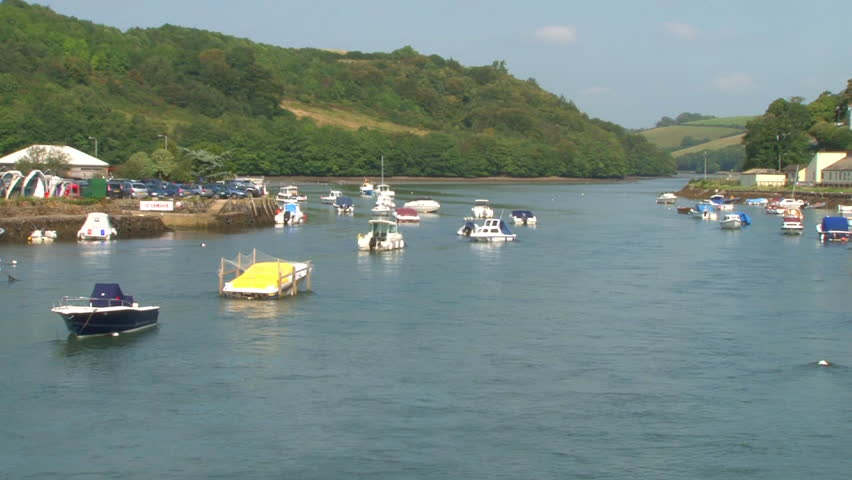 River estuary at Looe in Cornwall.