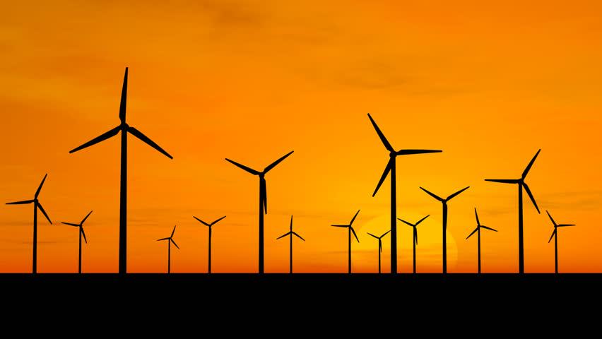 Wind generators - HD stock footage clip