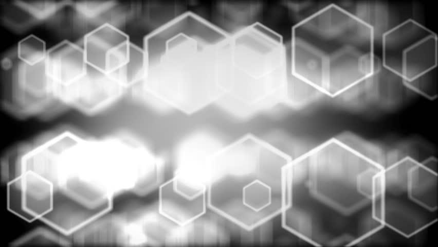 High quality digital background animation, white version