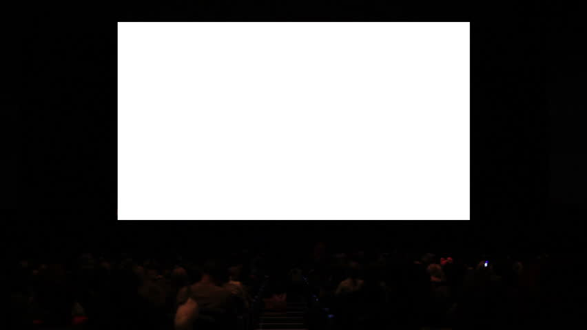 Viewers in the cinema house. Variant III. Screen size was 60 percent scaled from hd.