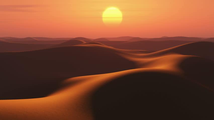 sunrise in desert, time lapse - HD stock footage clip