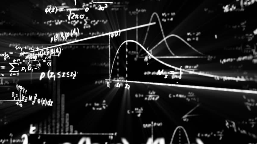camera flight in maths world seamless loop