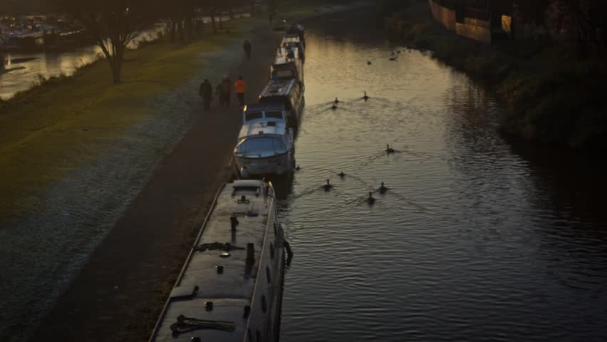 Sunset Canal Path Timelapse