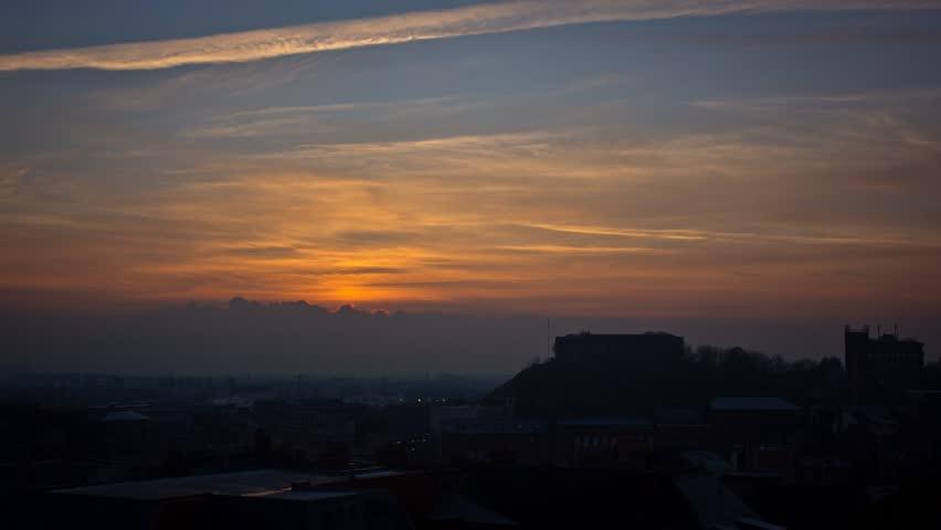 Cityscape Sunset Timelapse