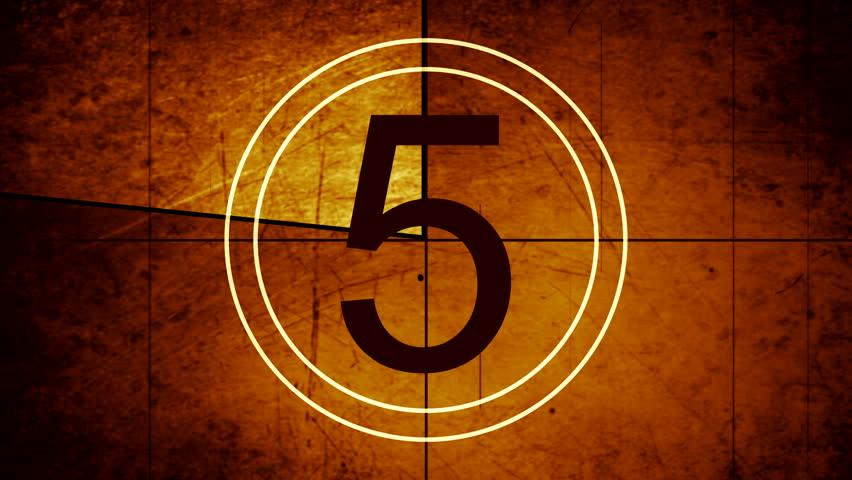 universal leader countdown - HD stock video clip