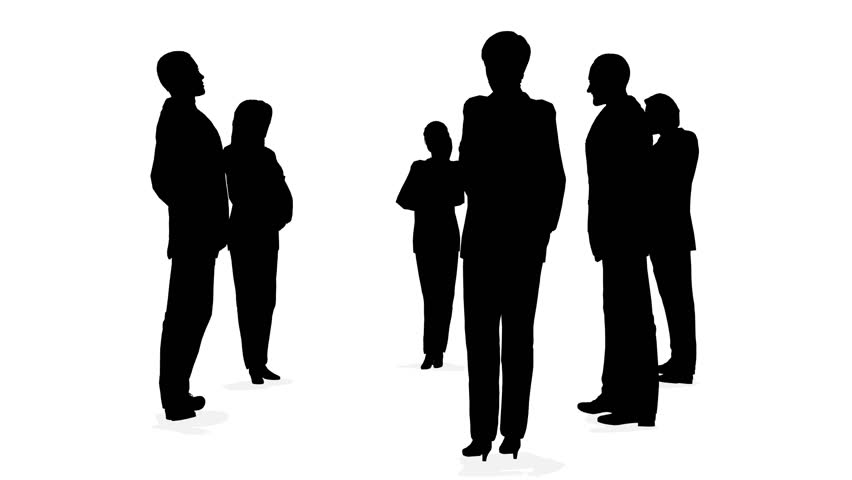 Three Circles Of Business People Silhouette Stock Footage ...