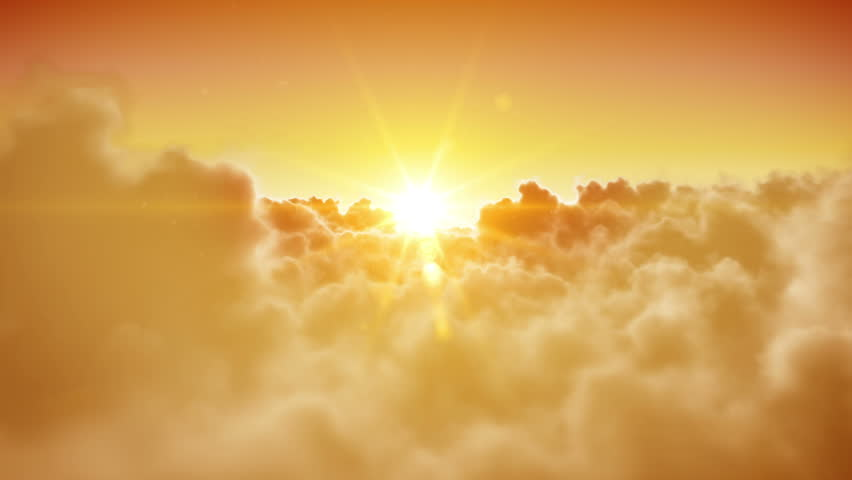 Heaven doors opening. Beautiful Sun and clouds are loopable. HD 1080. - HD stock footage clip