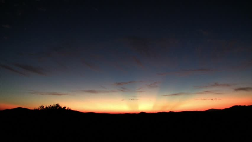 Sunrise in Joshua Tree Time-Lapse