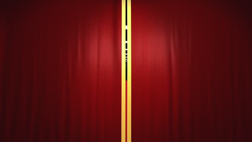 Velvet theater curtains and red carpet