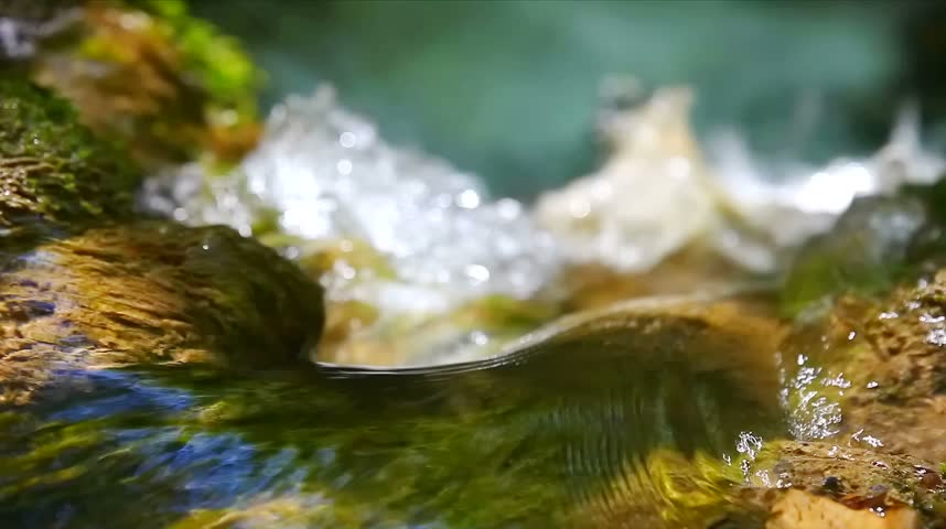 Waterfall Effect flowing water LOOPING - HD stock video clip