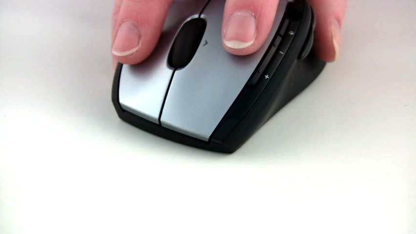 Close-up of using a mouse. - HD stock footage clip