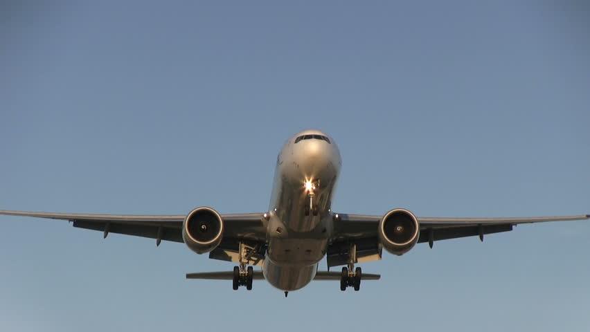 Huge plane flies overhead