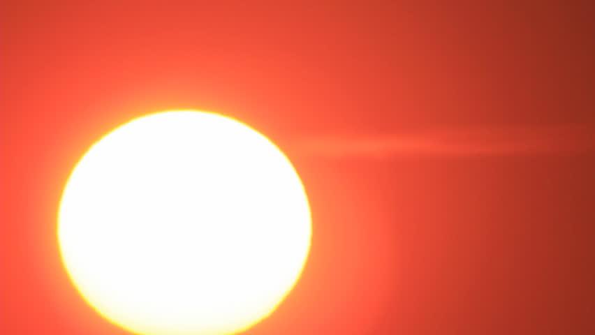 Big sun disk sunrise close timelapse