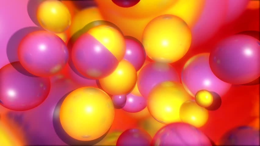 Energetic Yellow and Pink Spheres