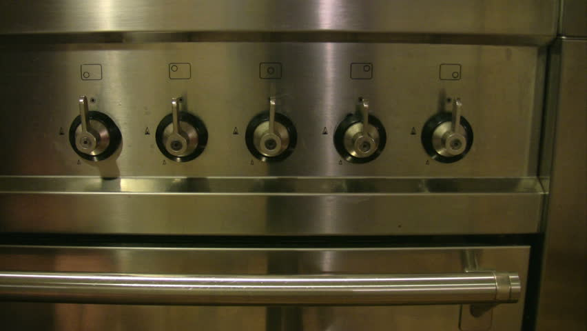 Stove in the kitchen 2 - HD stock video clip