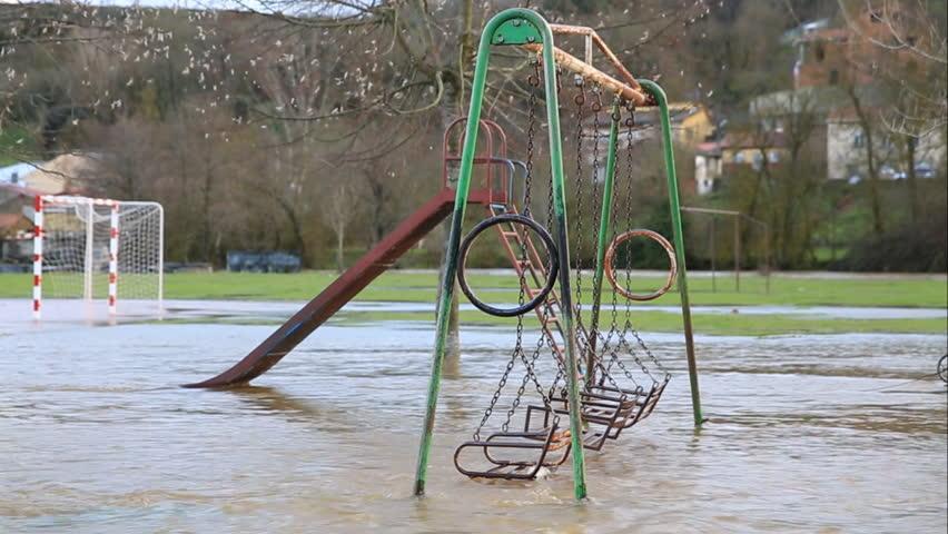 Floodin over children game zone