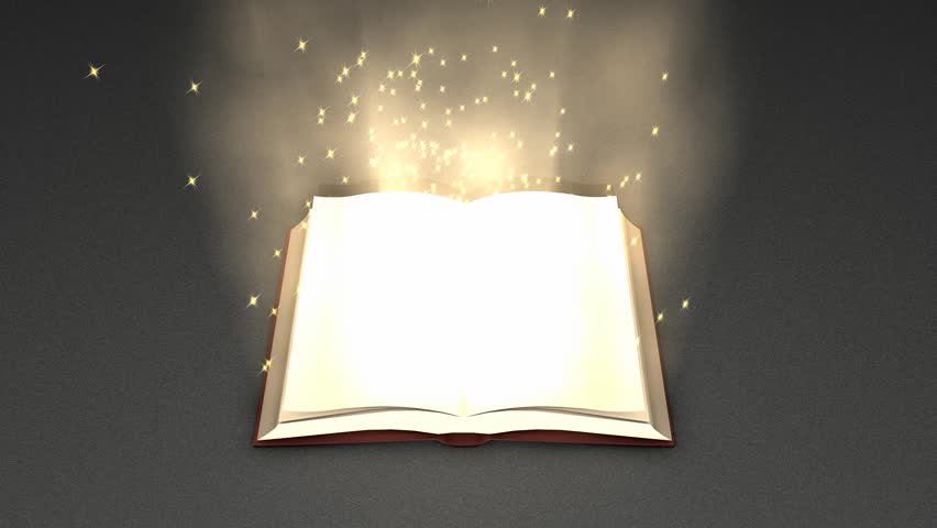 Magical book zoom in animation. - HD stock video clip