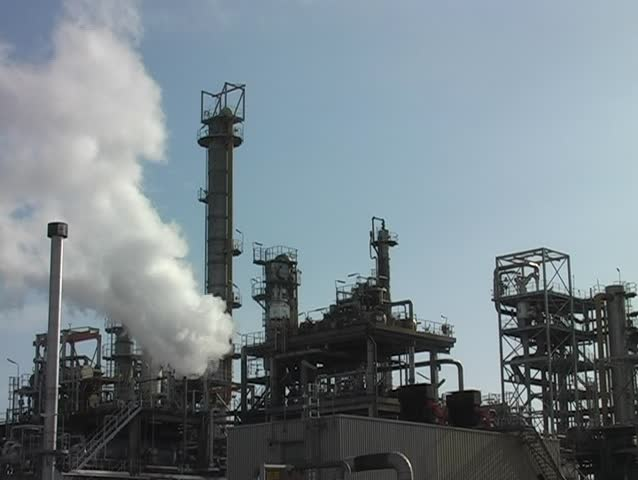 Petroleum plant in Rotterdam harbor in the Netherlands - SD stock footage clip