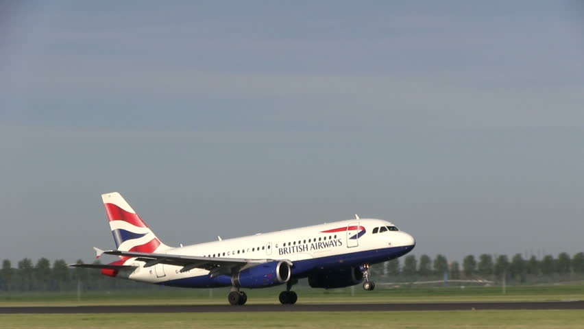 SCHIPHOL, AMSTERDAM, THE NETHERLANDS - JUNE 20: British airways plane taking off at Amsterdam Airport Schiphol on May 25, 2012.