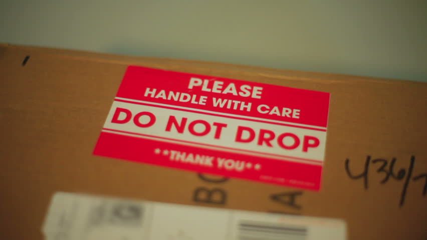 Do not drop, package warning