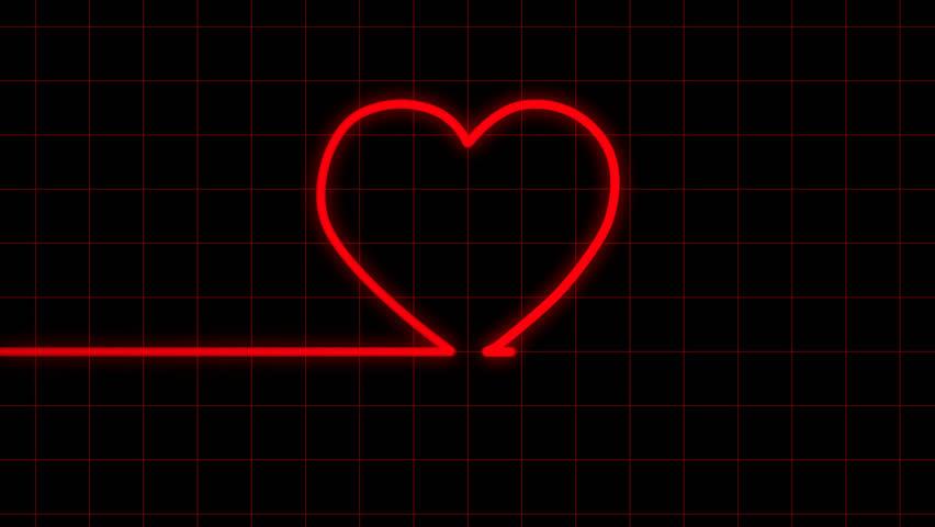 Heartbeat on EKG reveals heart shape with Matte