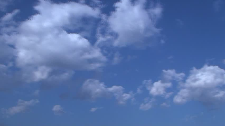 HD time lapse blue sky - HD stock footage clip