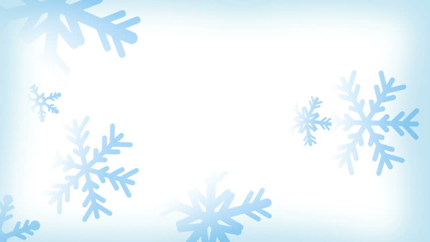 white background with light blue snowflakes falling down