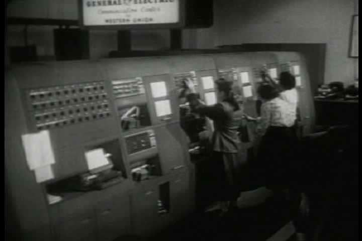 1940s - Archival film describing the Western Union private wire telegraph service.