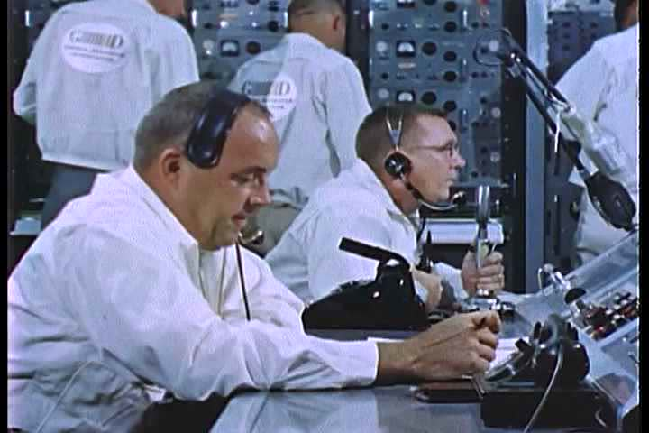 1960s - Mission control at NASA on the Mercury Project.
