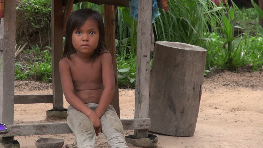 Young Asian Girl Piggyback Toddler Children Laos Poverty
