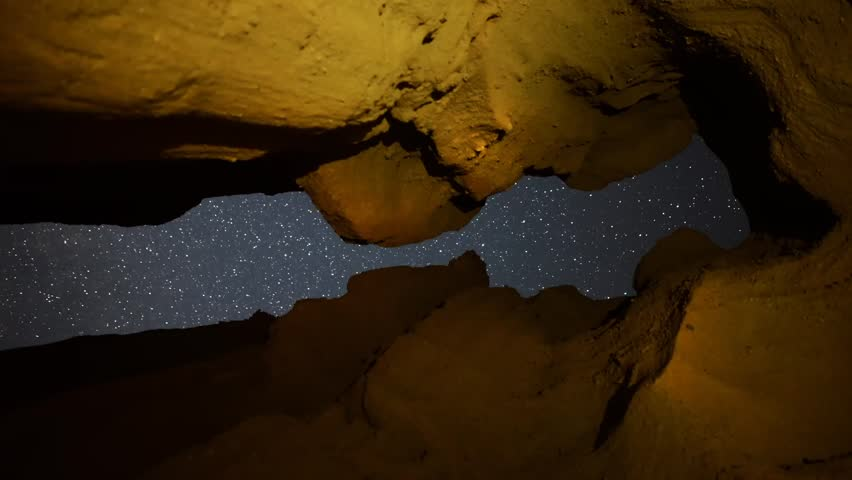 Astrophotography Time Lapse Keyhole Cave