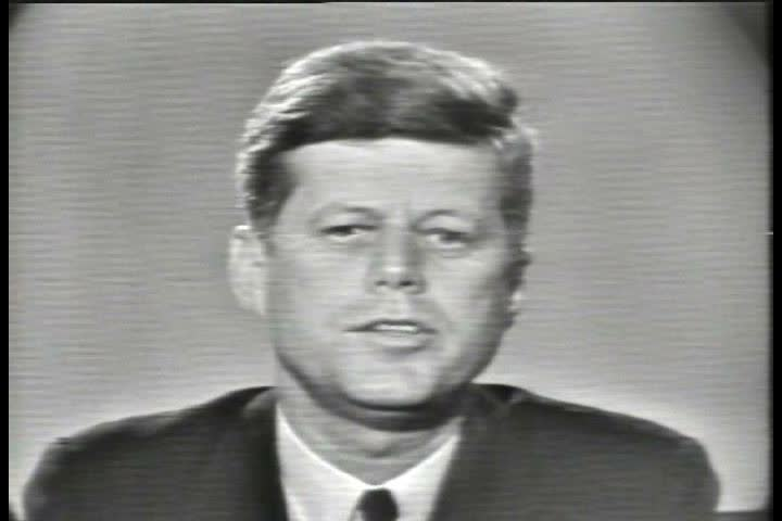 1980s - John F. Kennedy speaks out against the proliferation of nuclear weapons in 1963.