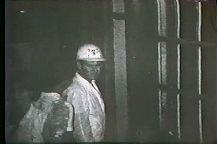 1960s - Hurricane Betsy threatens New Orleans and President Lyndon Johnson surveys the damage. - SD stock video clip