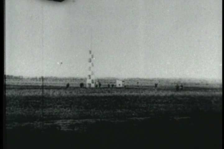 1900s - Early film footage of the Wright Brothers plane at Kitty Hawk and people who knew the Wrights are interviewed.