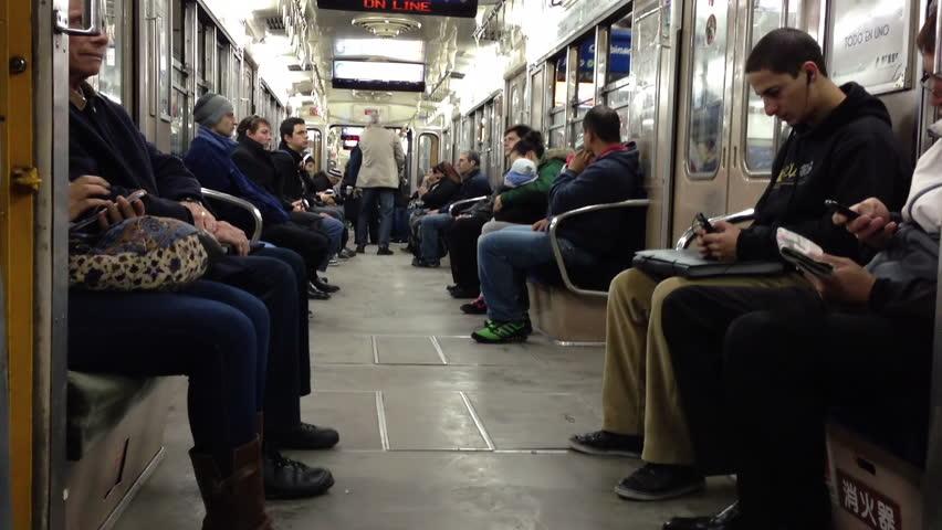 buenos aires argentina circa 1013 interior of a subway train car in buenos aires argentina. Black Bedroom Furniture Sets. Home Design Ideas