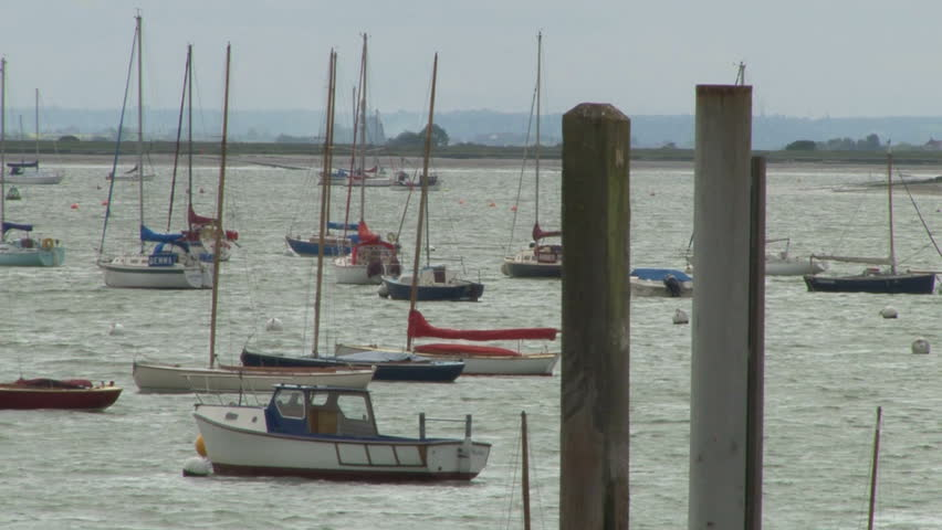 Burnham On Crouch Stock Video Footage.