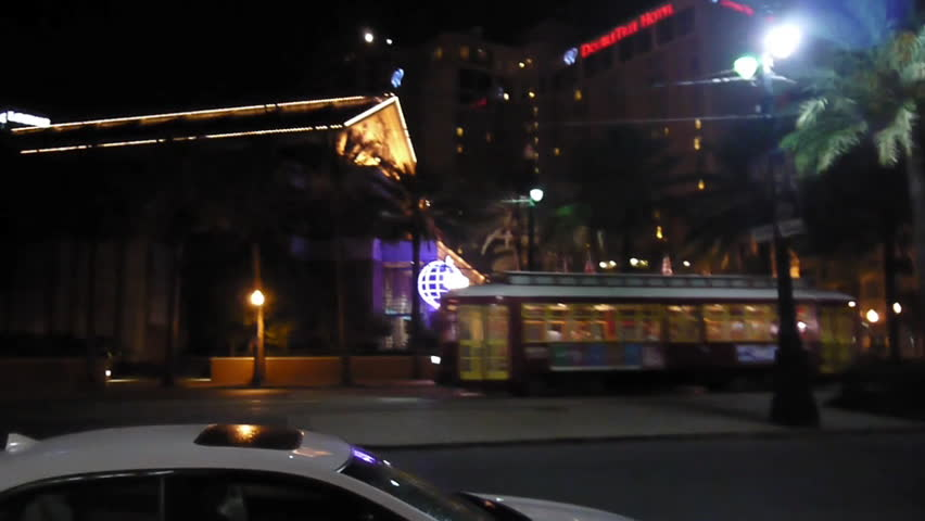 New Orleans, Louisiana -  June, 2011 - Canal street line streetcar.
