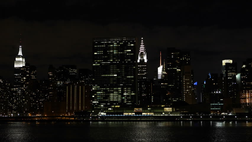New York City Building With Illuminated Top