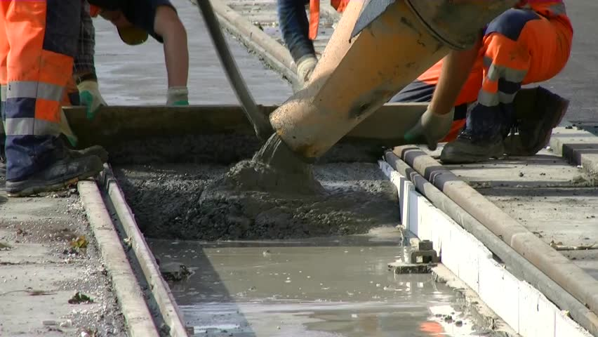 Construction of the road. - HD stock video clip