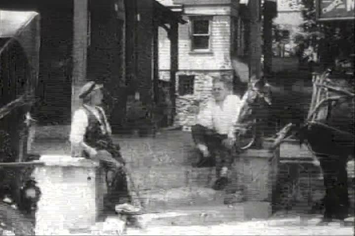 1920s - New York City busy street traffic circa 1920.