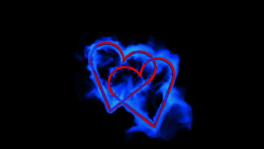 burning blue heart,valentine's day energy heart.